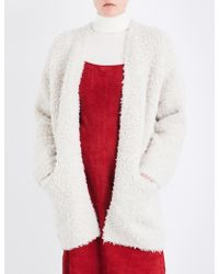 Vince - Textured-knit Wool And Cashmere-blend Cardigan - Lyst