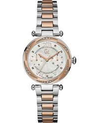 Gc - Y06112l1 Ladychic Rose-gold Watch - Lyst