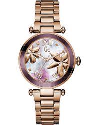 Gc - Y21002l3 Ladybelle Rose-gold Watch - Lyst