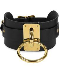 Zana Bayne - Wide Leather Choker Collar - Lyst