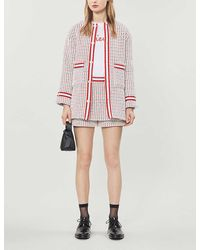 Maje Gerona Cotton-blend Tweed Jacket - Red
