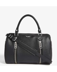 Zadig & Voltaire Sunny Studded Leather Bowling Bag - Black
