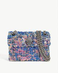 Kurt Geiger Mini Sequin Kensington Shoulder Bag - Blue