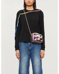 Fyodor Golan Rainbow Button-trim Cotton-blend Sweatshirt - Black