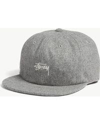 924ce9c27b1237 ASOS Flat Cap In Grey Nepp Melton in Gray for Men - Lyst