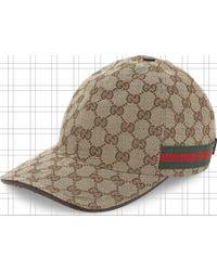 Gucci GG Web Stripe Baseball Cap - Brown