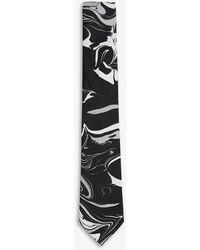Ted Baker Medle Marbled Silk Tie - Black