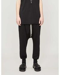Rick Owens Drkshdw Prisoner Drawstring Cotton Pants - Black