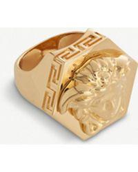 Versace Medusa Head Gold-plated Ring - Metallic