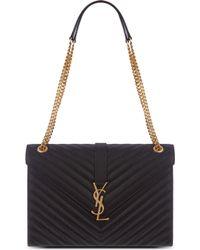 Saint Laurent - Monogram Large Quilted Leather Shoulder Bag - Lyst