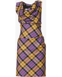 Vivienne Westwood Tartan-print Woven Midi Dress - Multicolour