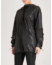 Ivy Park Lace-detail Shell Jacket - Black