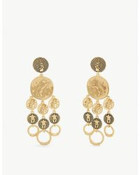 Chloé Emoji Femininities Chandelier Drop Earrings - Metallic
