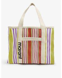 Isabel Marant Warden Striped Canvas Tote Bag - Multicolor