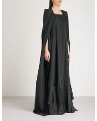Vionnet - Cape-sleeve Shell Gown - Lyst