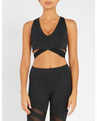 eff1ffef05 Lyst - Calvin Klein High Impact Jersey Sports Bra in Black