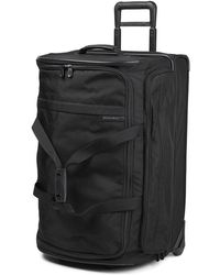 Briggs & Riley Black Baseline Large Upright Duffle Bag