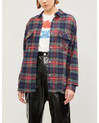 The Kooples - Plaid Fleur De Lys Cotton-flannel Shirt - Lyst