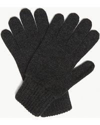 Johnstons Plain Cashmere Gloves - Black