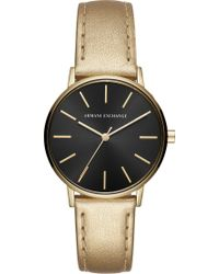 Armani Exchange - Ax5546 Lola Stainless Steel And Leather Watch - Lyst
