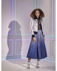 Dior Gradient High-waist Denim Midi Skirt - Blue