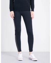 Spanx - Panelled Jersey Leggings - Lyst