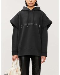 MM6 by Maison Martin Margiela Logo-print Cotton-jersey Hoody - Black