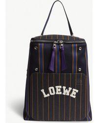 Loewe - Black And Purple Goya Varsity Backpack - Lyst