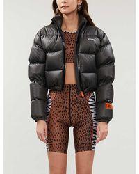 GOOD AMERICAN Animal-print Stretch-jersey Shorts - Black