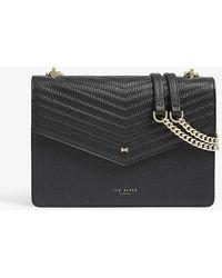 Ted Baker Kalila Envelope Leather Cross-body Bag - Black