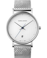 Georg Jensen - Koppel Stainless Steel Mesh Watch - Lyst