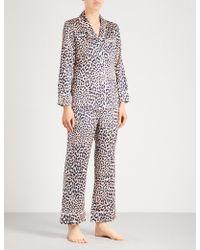 Olivia Von Halle - Lila Raelyn Silk-satin Pyjama Set - Lyst