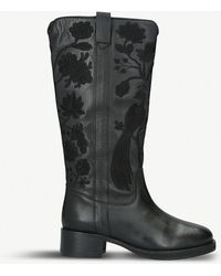 cfb4b1991b80d0 KG by Kurt Geiger - Winnie Leather And Suede Boots - Lyst