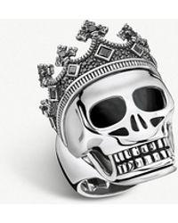 Thomas Sabo - Rebel Kingdom Skull Crown Silver Ring - Lyst