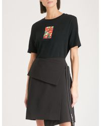 Izzue - Flocked-print Cotton-jersey T-shirt - Lyst