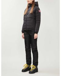 Canada Goose Ladies Black Camp Quilted Shell-down Hooded Jacket