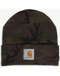 Carhartt WIP Camouflage Beanie - Green