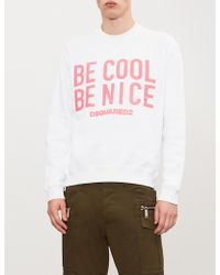 DSquared² - Be Cool Be Nice Cotton Sweatshirt - Lyst