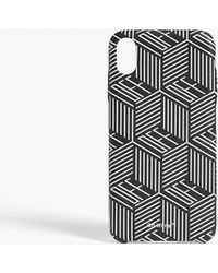 Off-White c/o Virgil Abloh Chequered Logo Iphone Xs Case - Black