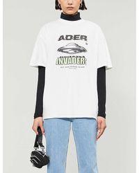ADER error Graphic-print Cotton-jersey T-shirt - White
