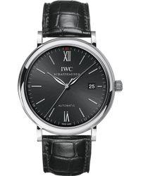 Iwc Iw356502 Portofino Stainless Steel Watch - Metallic