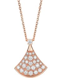 BVLGARI - Divas' Dream 18kt Pink-gold And Diamond Necklace - Lyst