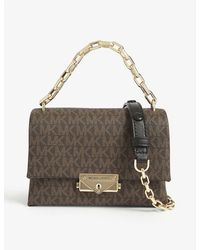 MICHAEL Michael Kors Cece Leather Shoulder Bag - Brown