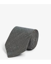 Eton of Sweden Woven Linen-blend Tie - Green