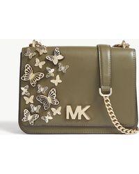 ada6d27e61a3 Lyst - MICHAEL Michael Kors Mott Butterfly Leather Cross-body Bag in ...
