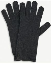 Brunello Cucinelli Bead Embellished Cashmere Gloves - Gray