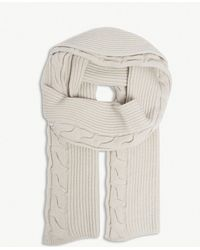 Max Mara - Cable-knit Wool And Cashmere Scarf - Lyst