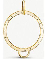 Thomas Sabo - Charm Club 18ct Gold-plated Circle Charm Carrier - Lyst