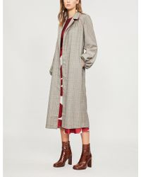 Johanna Ortiz - Checked Wool And Silk-blend Kimono - Lyst