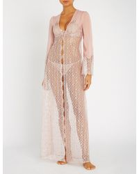 Myla - Rosemoor Street Metallic Stretch-lace Robe - Lyst